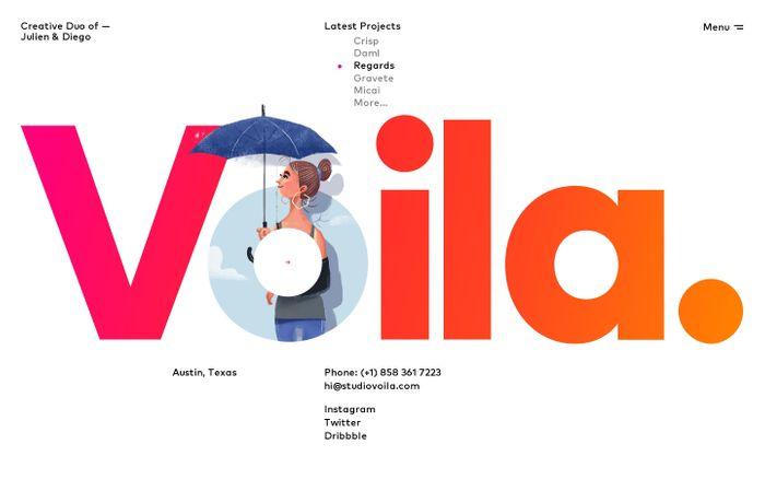 Screenshot of Voila