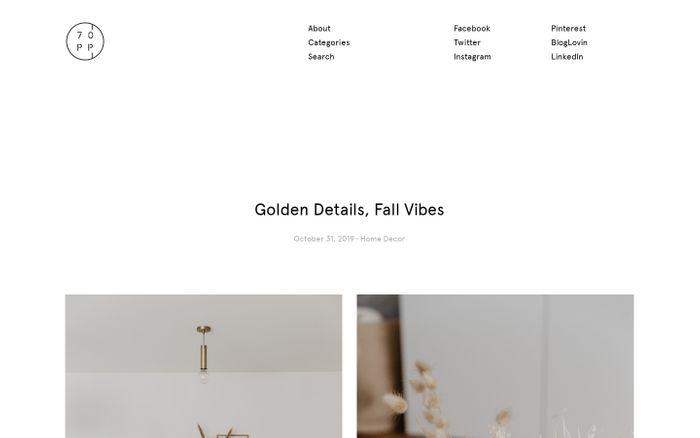 Screenshot of 70percentpure website