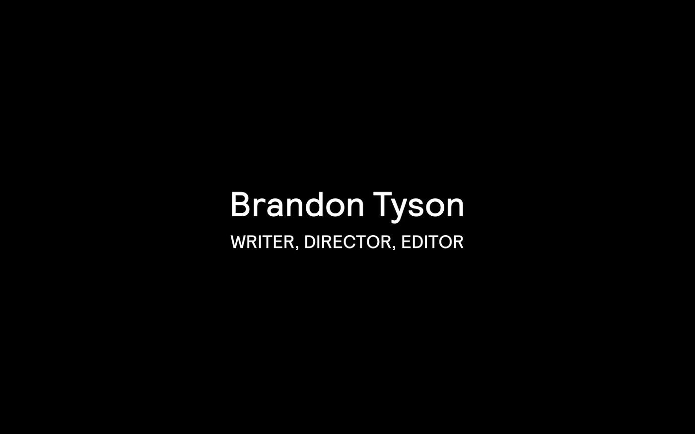 Screenshot of Brandon Tyson website