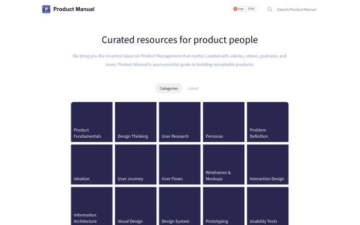Screenshot of Product Manual
