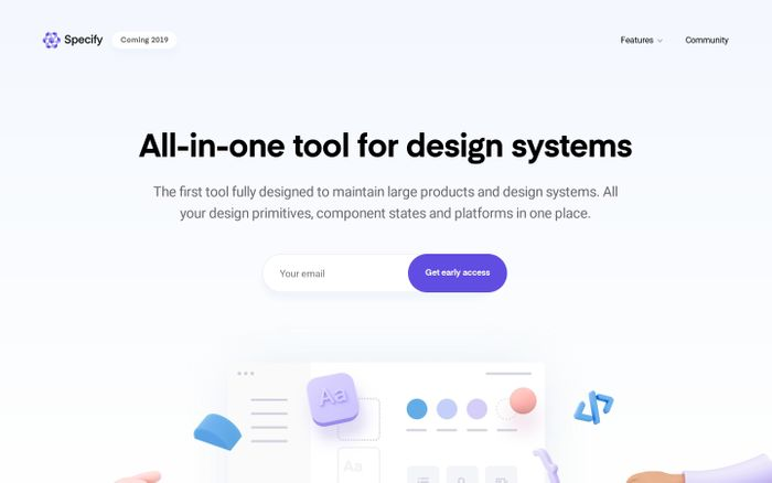 Screenshot of Specify — All-in-one tool for design systems