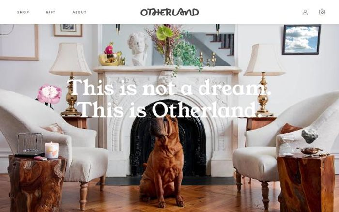 Screenshot of Otherland website