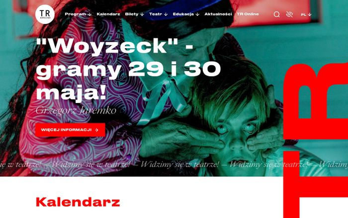 Screenshot of TR Warszawa website