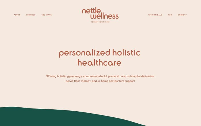 Screenshot of Nettle Wellness