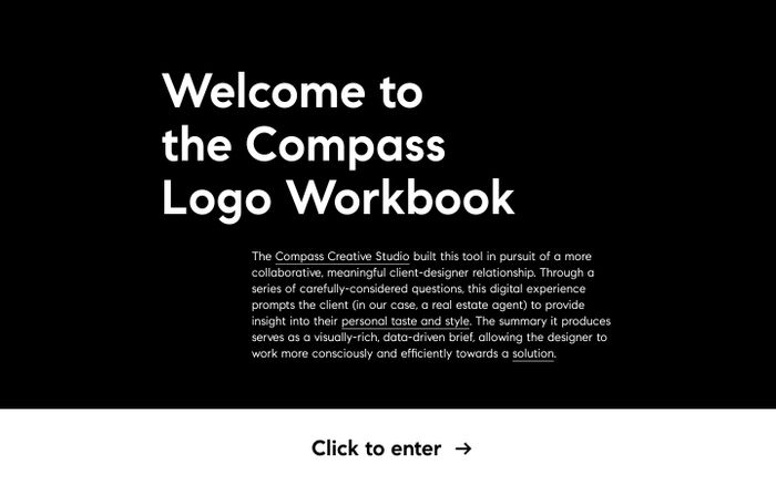 Screenshot of Compass | Agent Logo Workbook