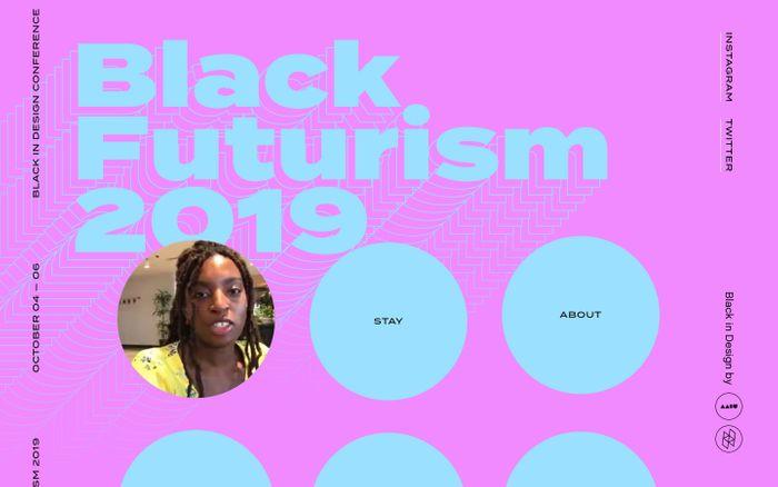 Screenshot of Black Futurism 2019 | Black Futurism 2019 - Black in Design Conference