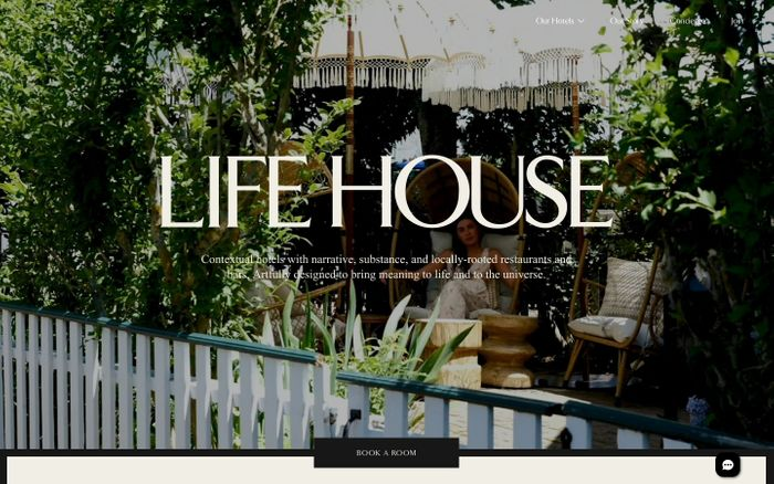 Screenshot of Life House - Contextually Designed Hotels