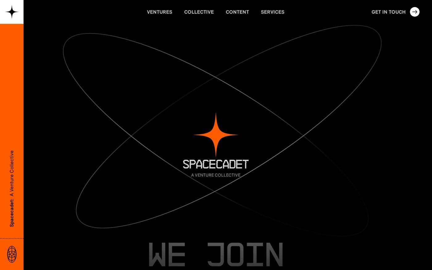 Screenshot of Spacecadet website