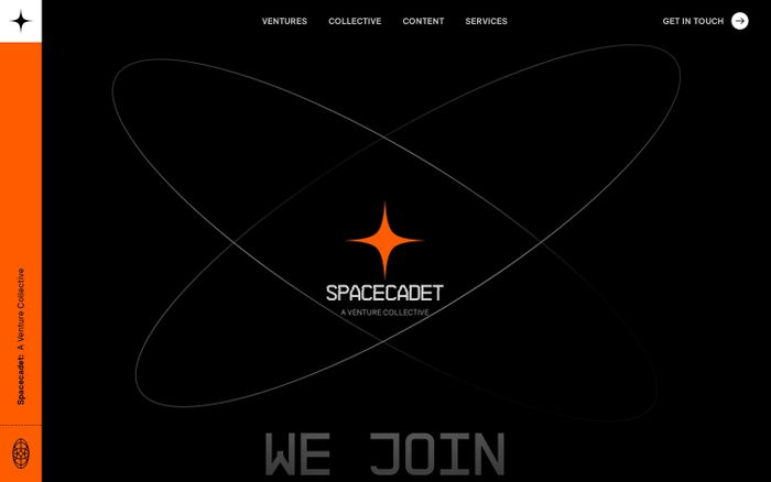 Screenshot of Spacecadet website