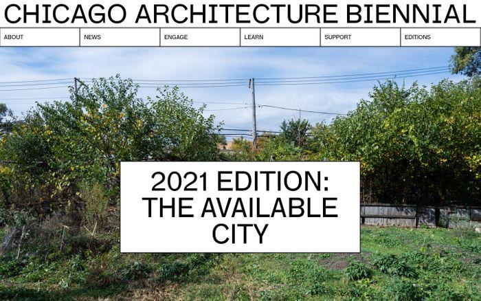 Screenshot of Chicago Architecture Biennial