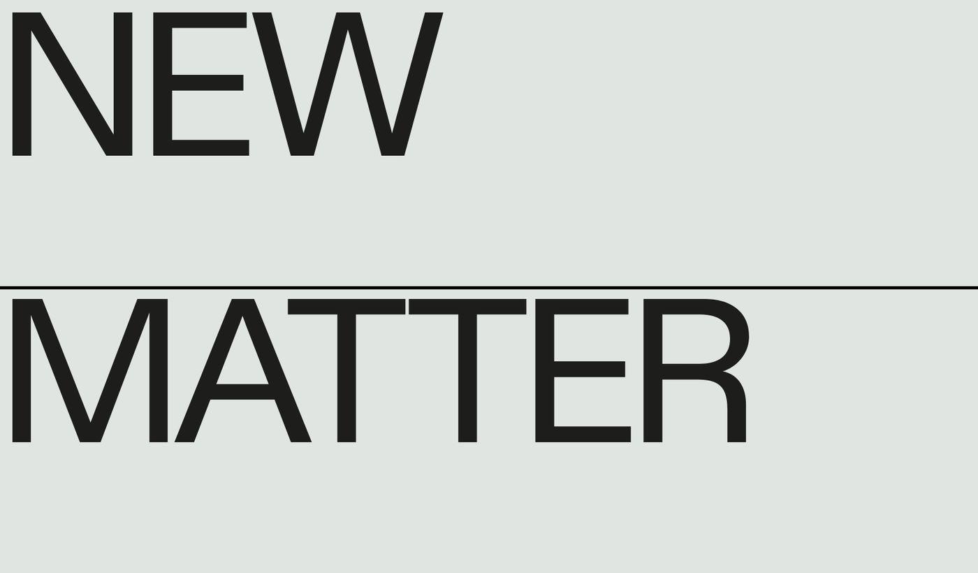 Screenshot of New Matter website
