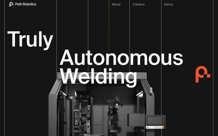 Screenshot of Path Robotics website