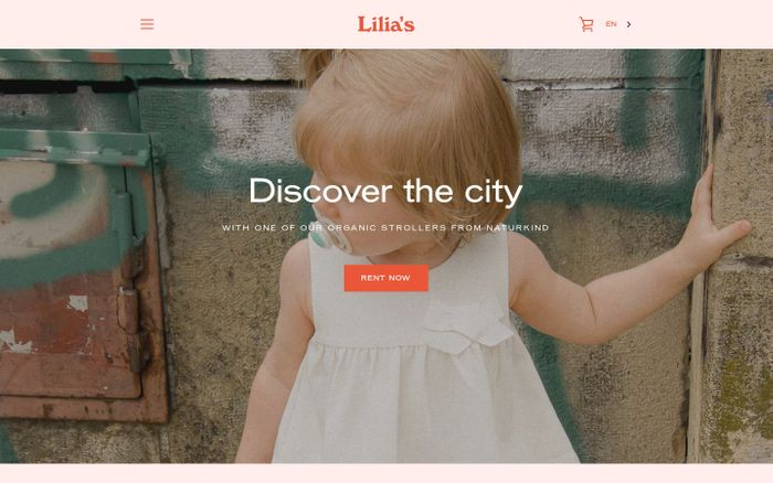 Screenshot of Lilia's | Simply rent a pram in Vienna for only 21€ / day - Lilias