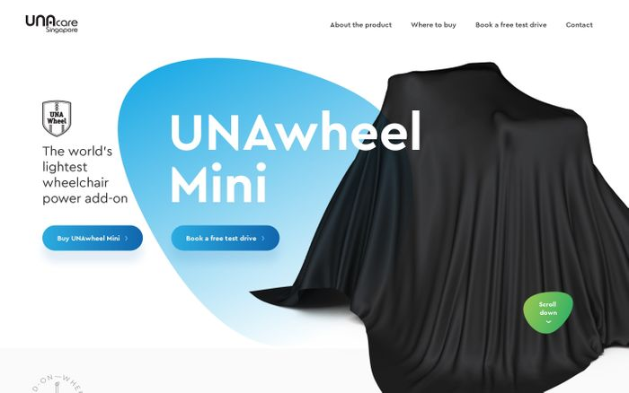 Screenshot of UNAwheel Mini by UNAcare - Power add-on for every wheelchair.