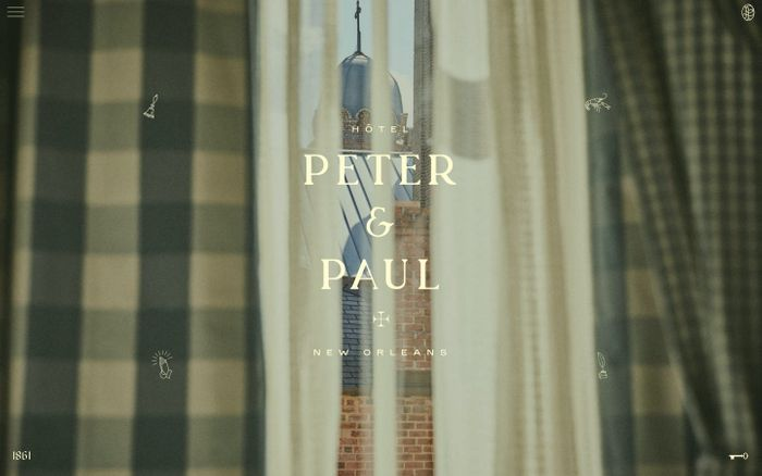 Screenshot of Hotel Peter & Paul website