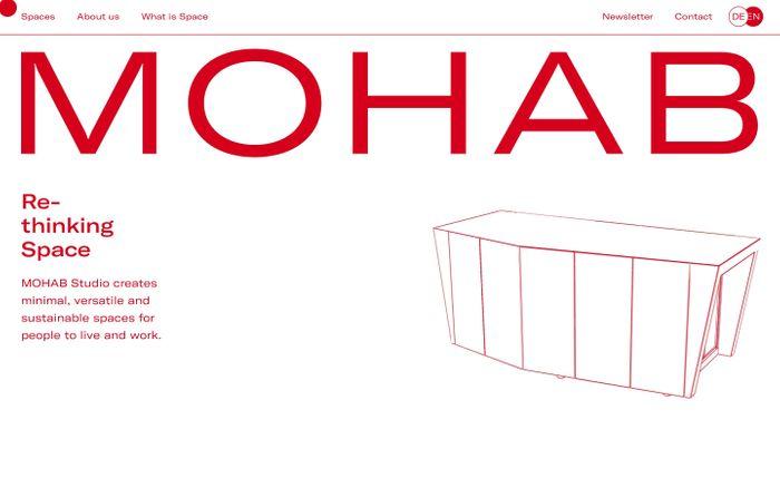 Screenshot of Homepage - MOHAB