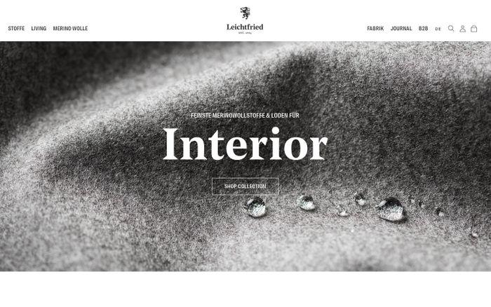 Screenshot of Lodenstoffe für Kleidung & Interior: Leichtfried Loden