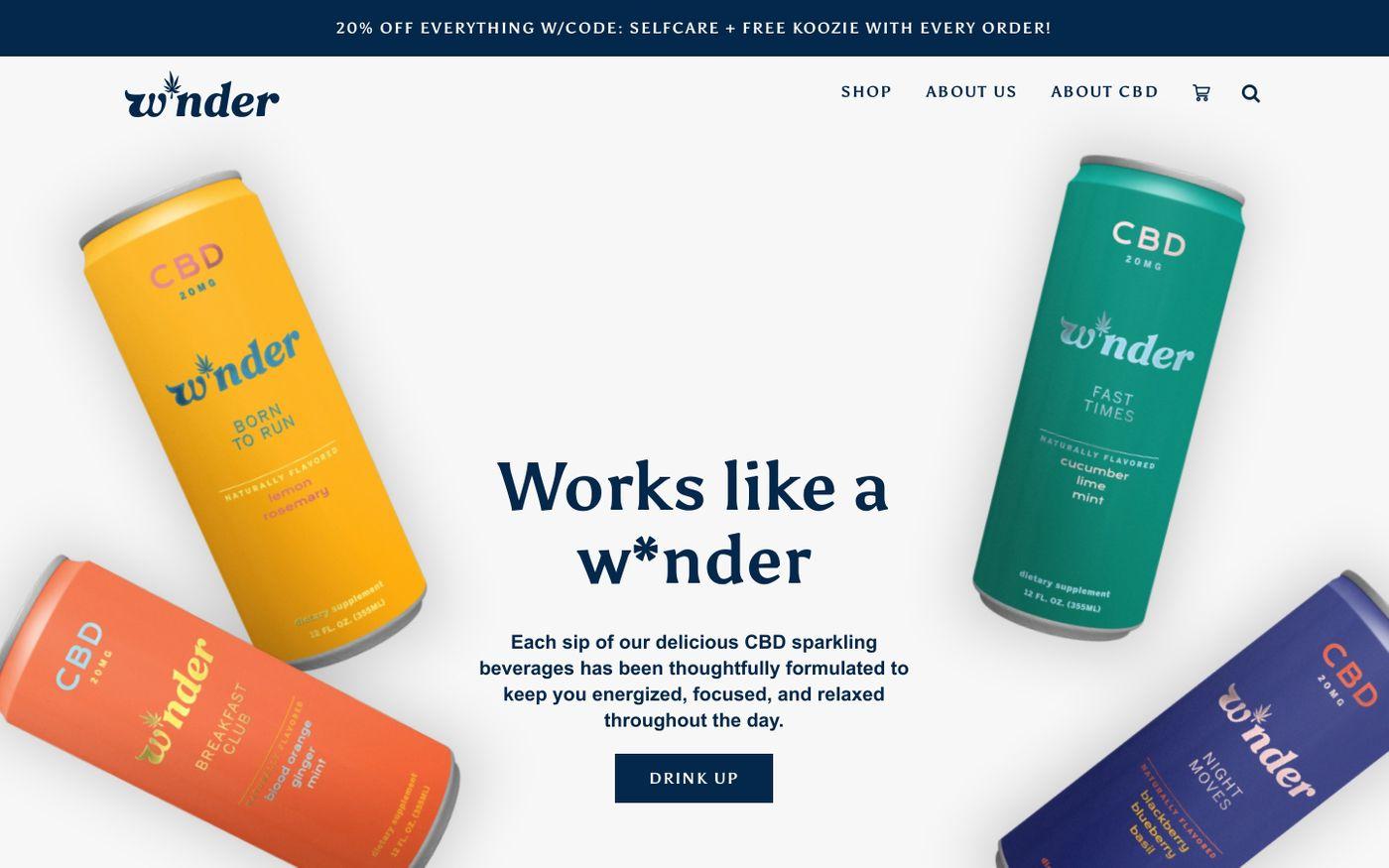 Screenshot of W*nder website