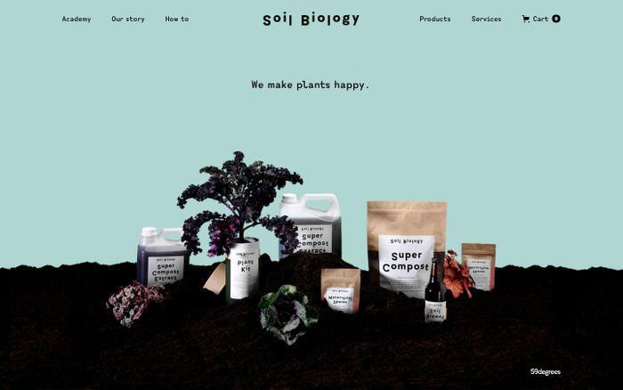 Screenshot of Soil Biology — Home