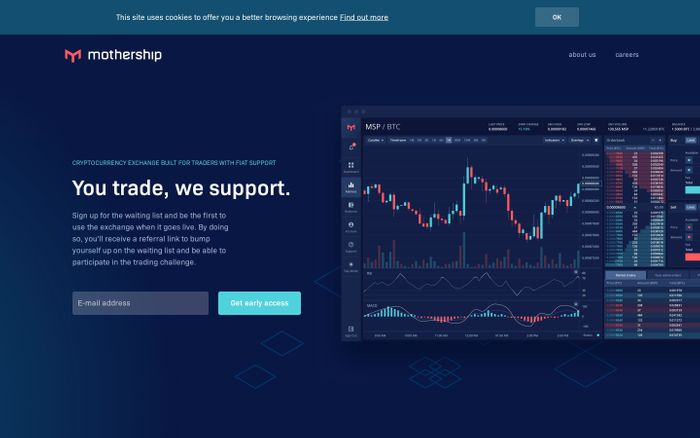 Screenshot of Mothership - You trade, we support   Cryptocurrency exchange