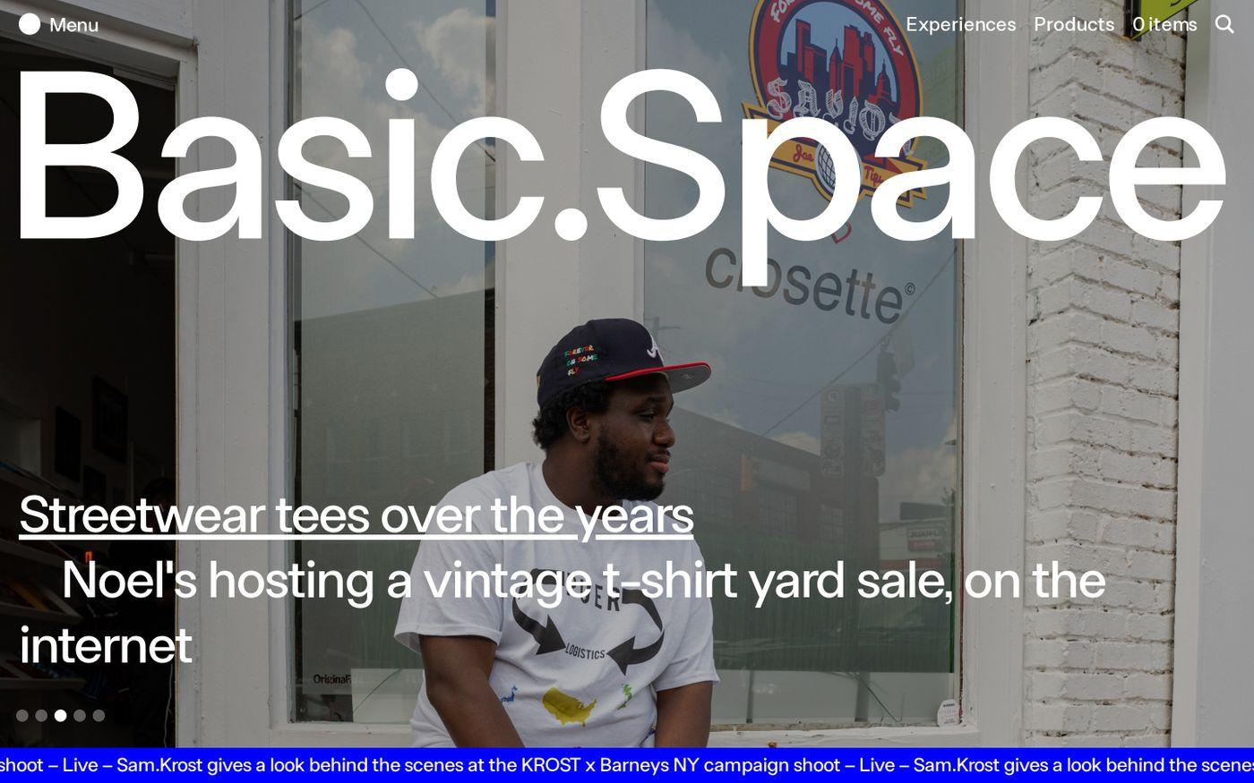 Screenshot of Basic.Space website