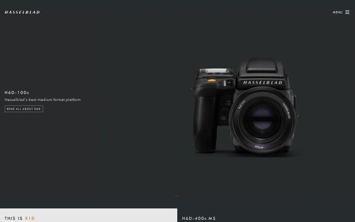 Screenshot of Hasselblad