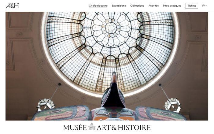 Screenshot of Art and History Museum website