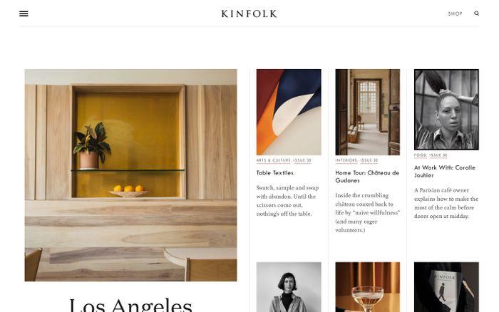 Screenshot of Kinfolk