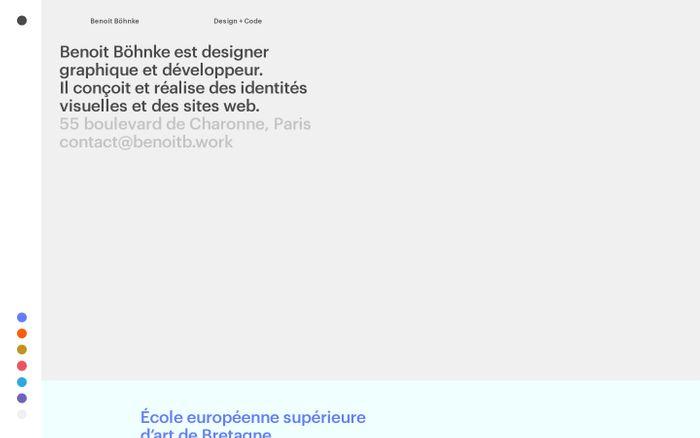 Screenshot of Benoit Böhnke • Design graphique et développement