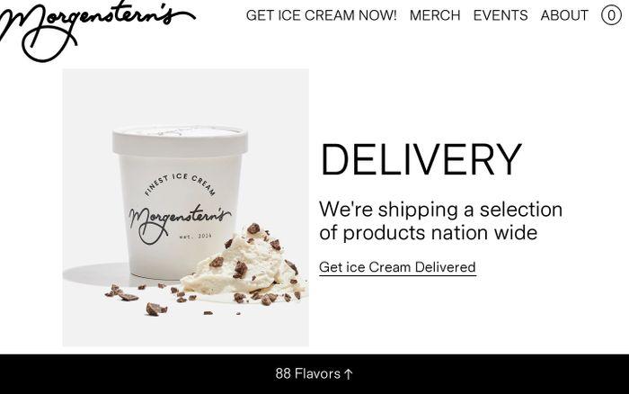 Screenshot of Morgenstern's Finest Ice Cream