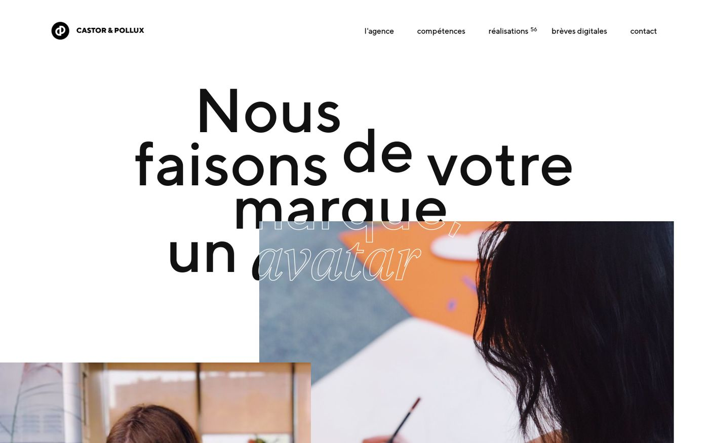 Screenshot of Castor & Pollux website
