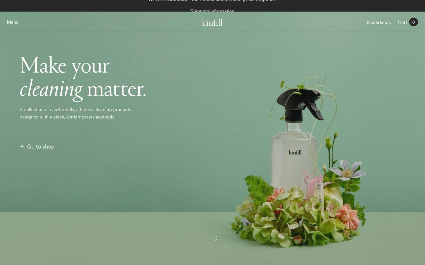 Screenshot of Kinfill website