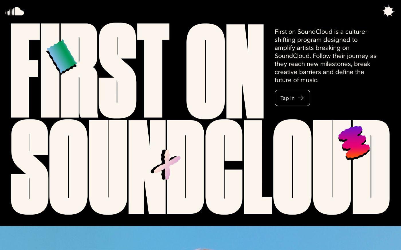 Screenshot of First on Soundcloud website