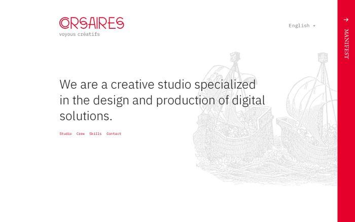 Screenshot of Corsaires Studio - atelier créatif et digital à Bordeaux
