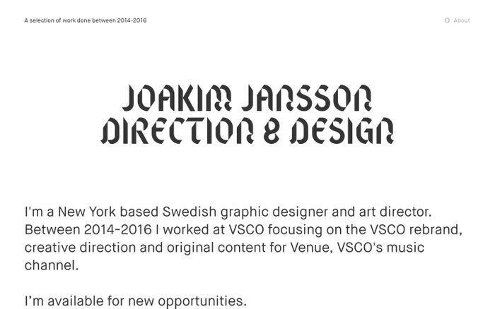 Screenshot of Joakim Jansson