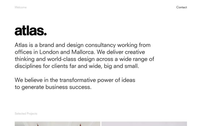 Screenshot of Atlas — Design consultancy