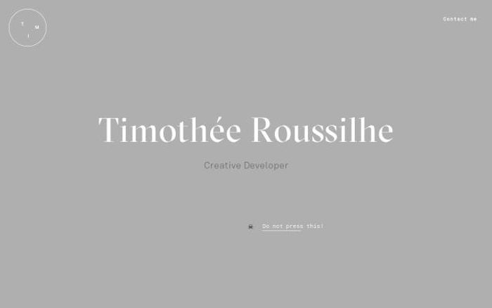 Screenshot of Tim Roussilhe website