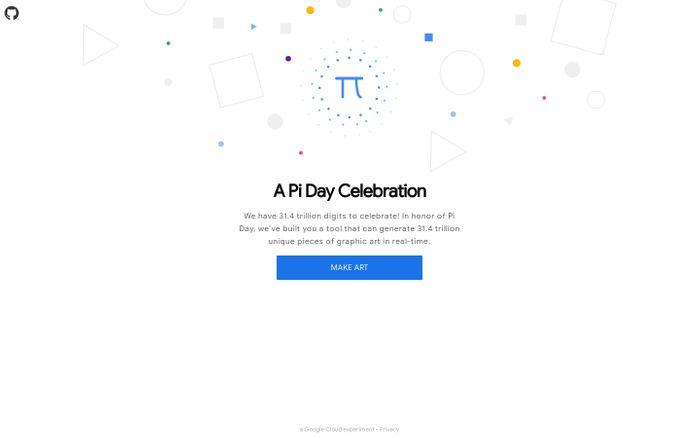 Screenshot of A Pi Celebration