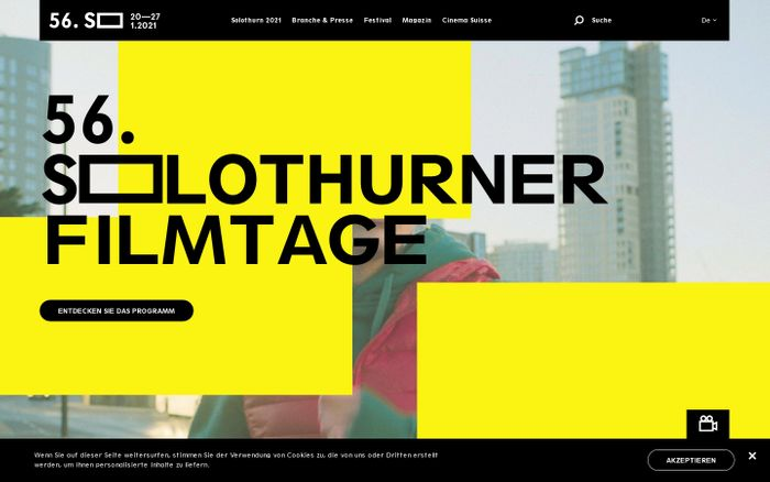 Screenshot of Solothurner filmtage