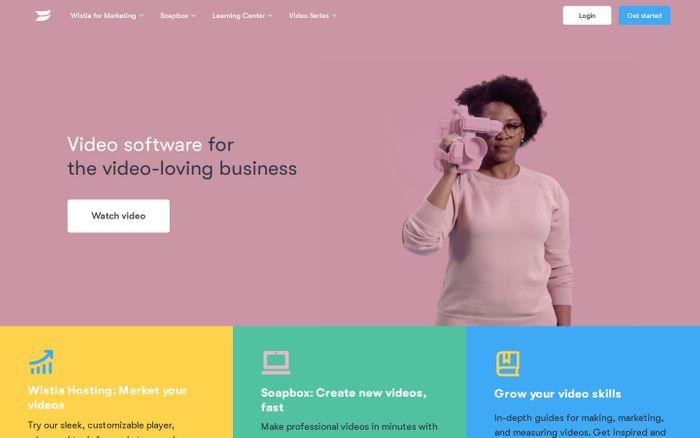 Screenshot of Video Hosting for Business | Wistia