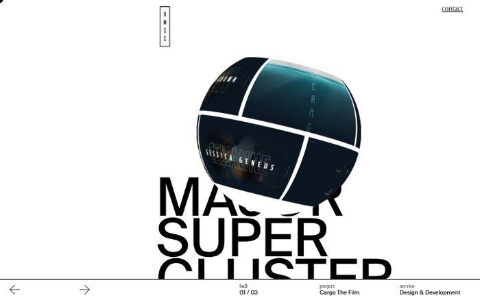 Screenshot of Ursa Major Supercluster - digital design Studio