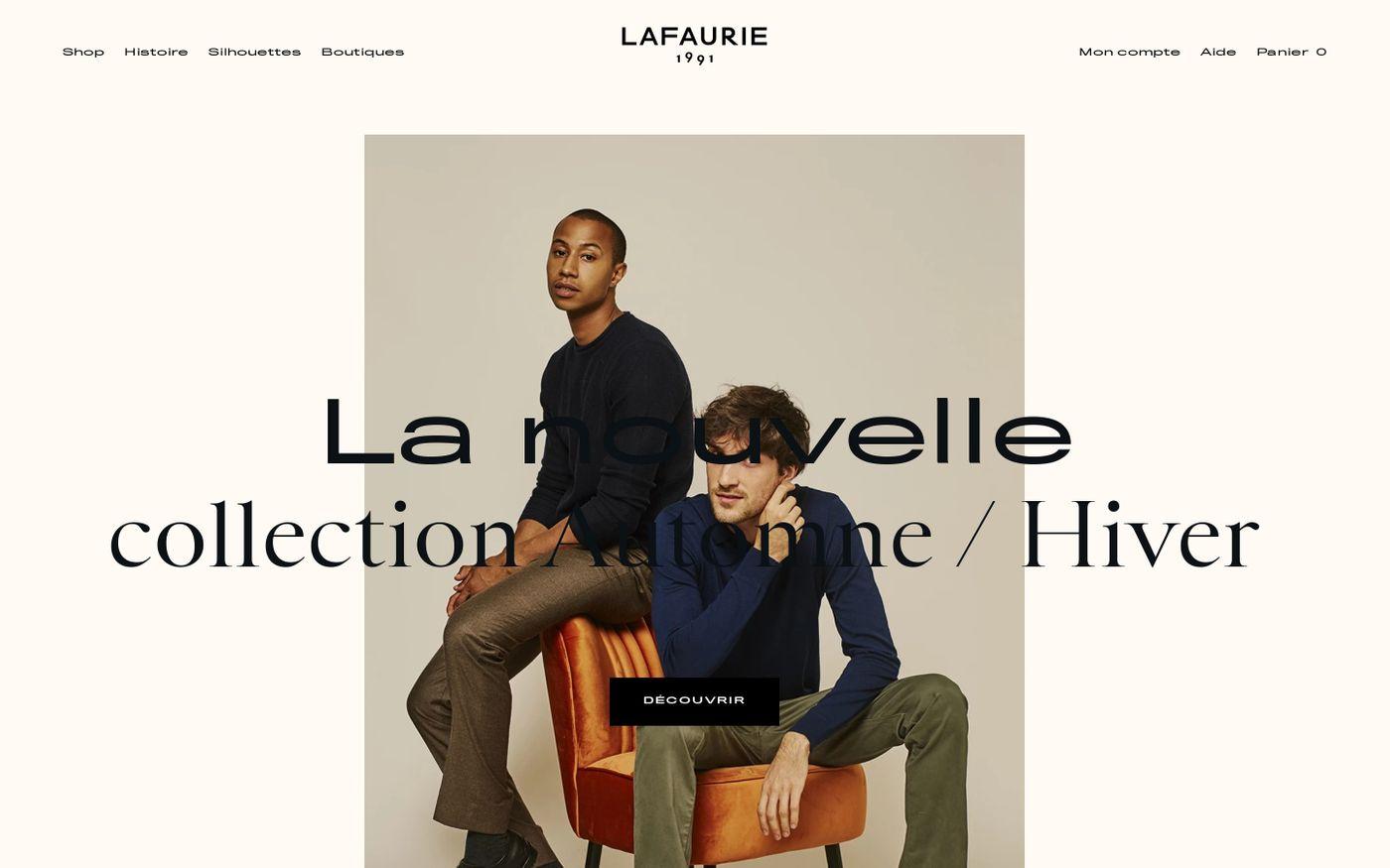 Screenshot of Lafaurie Paris website