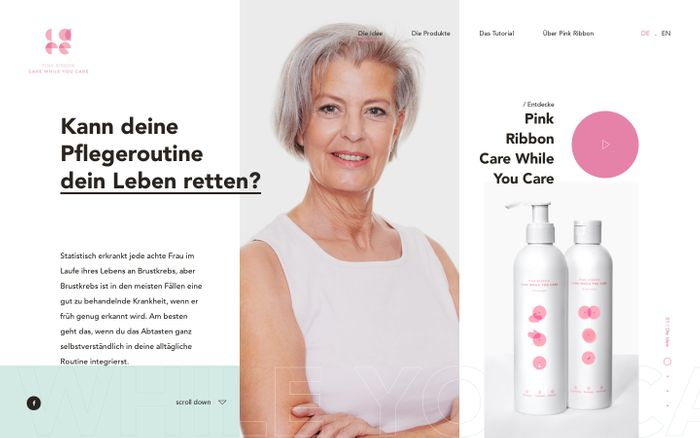 Screenshot of Pink Ribbon | Care While You Care