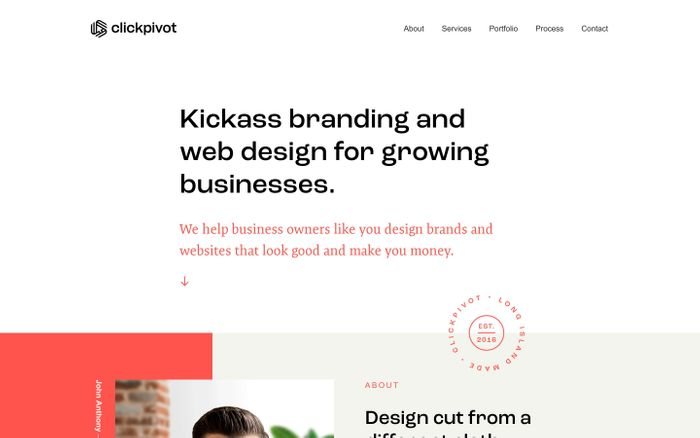 Screenshot of Clickpivot| Custom Branding and Web Design