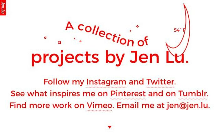 Screenshot of Jen website