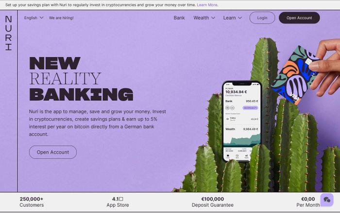 Screenshot of Nuri website