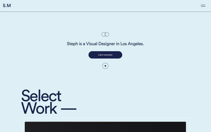 Screenshot of Stephanie Ma | Visual Designer