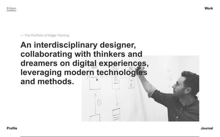 Screenshot of Edgar Fleming – Design Consultant