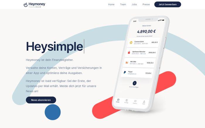 Screenshot of  Heymoney