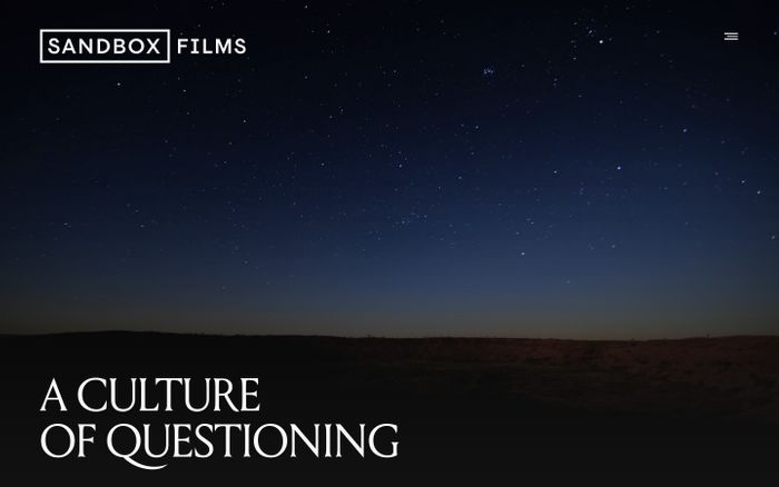 Screenshot of Sandbox Films - A Culture of Questioning